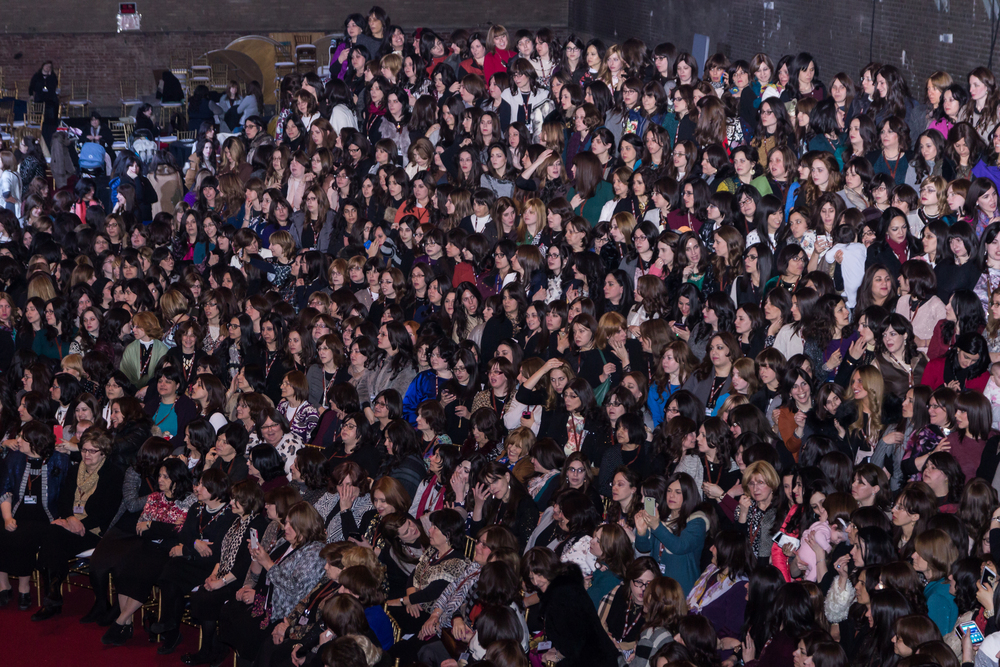 Chabad's female leaders gather at their recent conference in New York. Credit: Chabad.org/Michal Weiss.