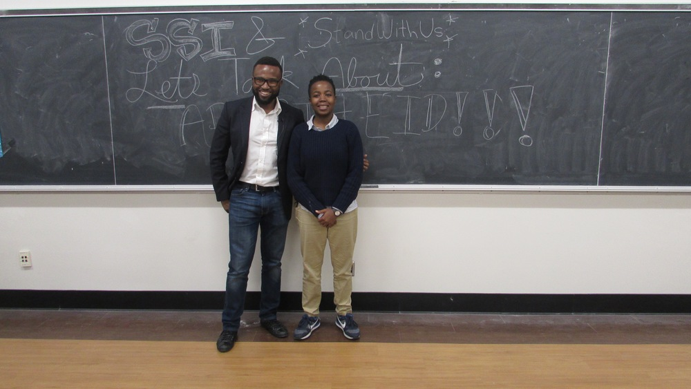 Click photo to download. Caption: South African student leaders Jamie Mithi, left, and Miyelani Pinini spoke Feb. 4 at the University of California, Los Angeles (UCLA) about the anti-Israel comparison of the Jewish state to apartheid-era South Africa. Credit: Courtesy StandWithUs.