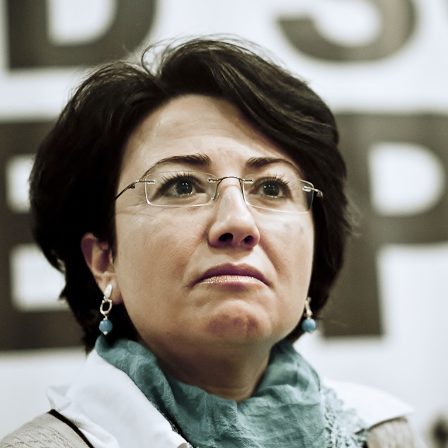 Haneen Zoabi, one of three suspended Arab members of the Israeli Knesset. Credit: Palestina Livre via Wikimedia Commons.
