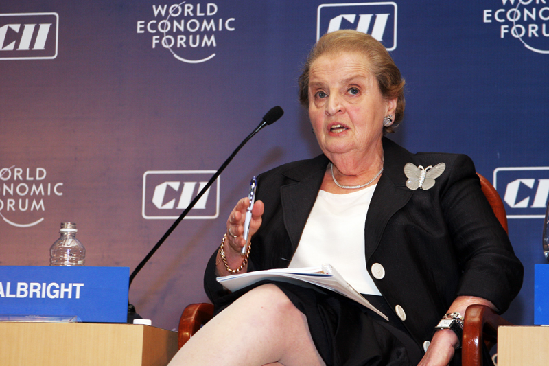 Click photo to download. Caption: Madeleine Albright. Credit: World Economic Forum.