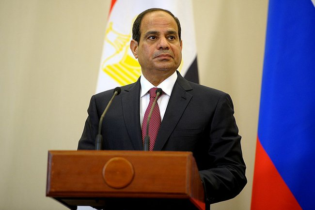 Egyptian President Abdel-Fattah el-Sissi. Credit: Russian Presidential Press and Information Office via Wikimedia Commons.