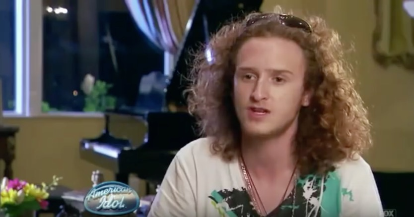 "Brett Loewenstern on ""American Idol"" in 2011. Credit: YouTube screenshot."