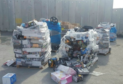 The Gaza-bound drone shipment disguised as toys that was intercepted by Israeli security personnel. Credit: Israeli Defense Ministry.