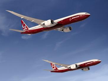 A computer rendering of Boeing's forthcoming 777X aircraft. Credit: Wikimedia Commons.