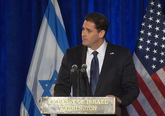 Israeli Ambassador to the U.S. Ron Dermer. Credit: Facebook.