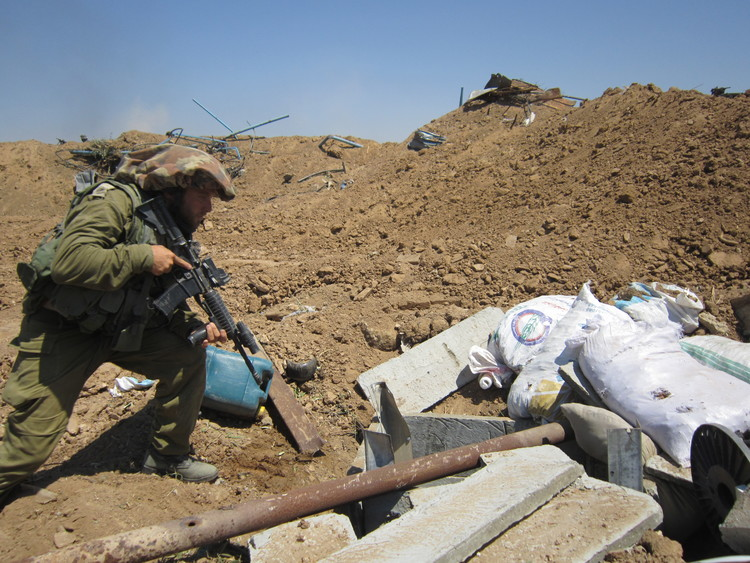 IDF soldiers find a Hamas terror tunnel in Gaza in July 2014. Credit: IDF.