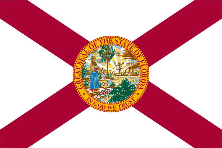 The state flag of Florida. Credit: Wikimedia Commons.