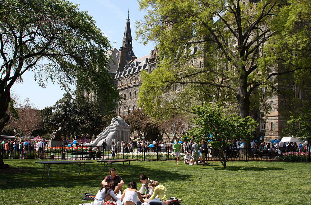 The Georgetown University campus. Credit: Lucas Cantor via Wikimedia Commons.