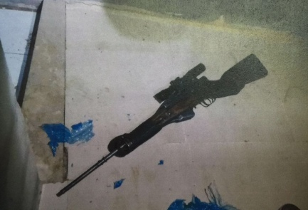 A sniper rifle that Israeli authorities believe was used by two Palestinian brothers in a series of sniper attacks. Credit: Shin Bet.