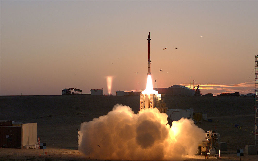 A David's Sling system test launch in December 2015. Credit: United States Missile Defense Agency.