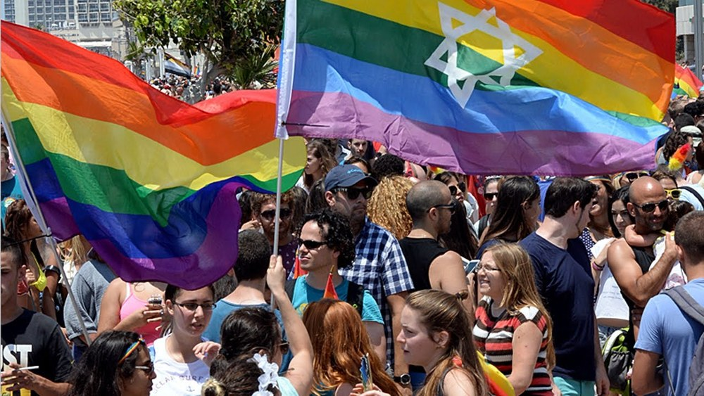 Tel Aviv's gay pride parade in 2014. Credit: YouTube Screenshot.