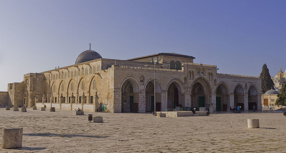 The Al-Aqsa mosque on the Temple Mount. Credit: Godot13 via Wikimedia Commons.