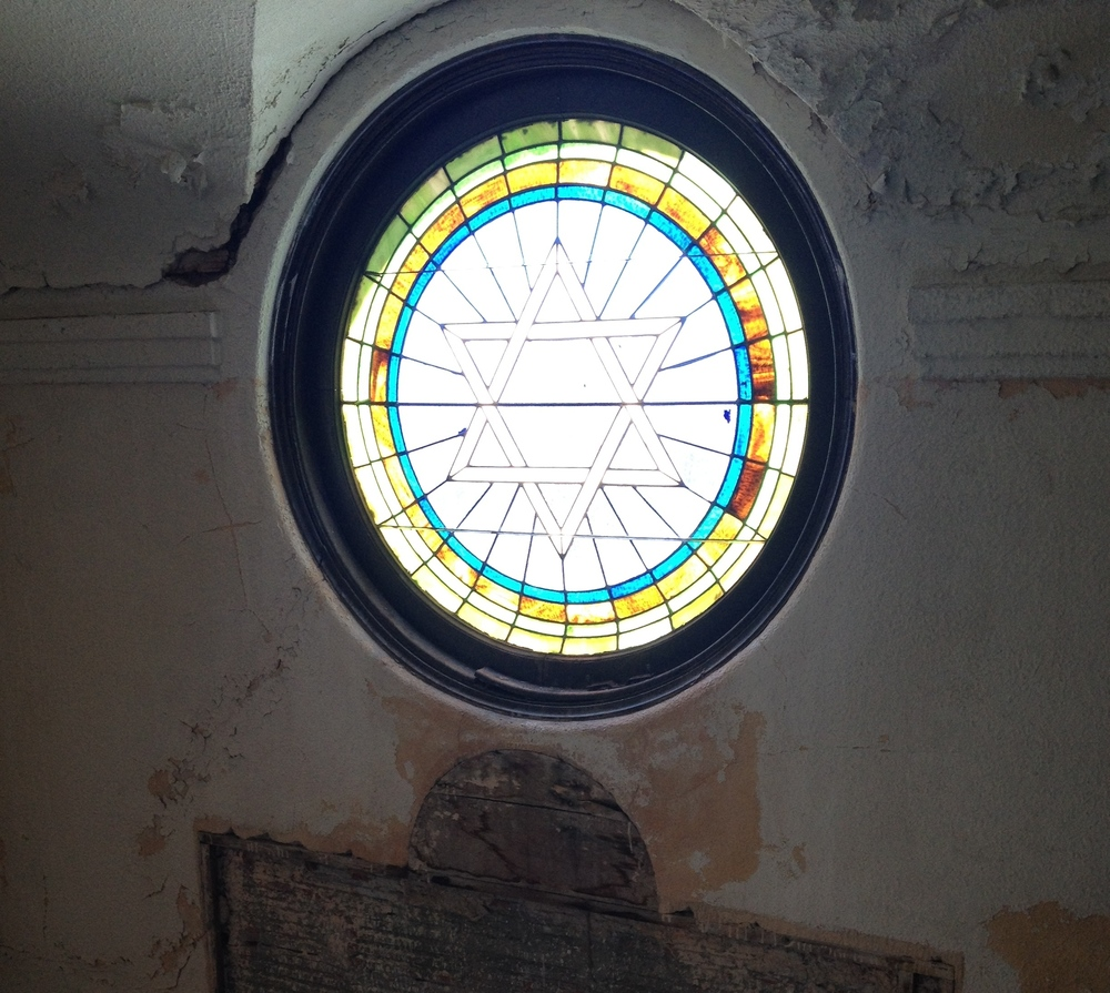 Click photo to download. Caption: The top floor at Congregation Beth Jacob of Galveston, providing a window into history. Credit: Jacob Kamaras.