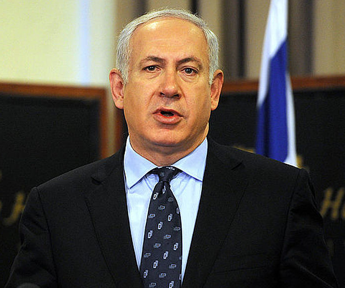 The V15 group campaigned against Prime Minister Benjamin Netanyahu (pictured) and the Likud party in the 2015 Israeli election. Credit: Cherie Cullen.