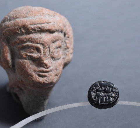 "A 2,500-year-old seal unearthed in Jerusalem. Archaeologists believe the seal may have belonged to what they called an ""exceptional"" woman. Credit: Israel Antiquities Authority."
