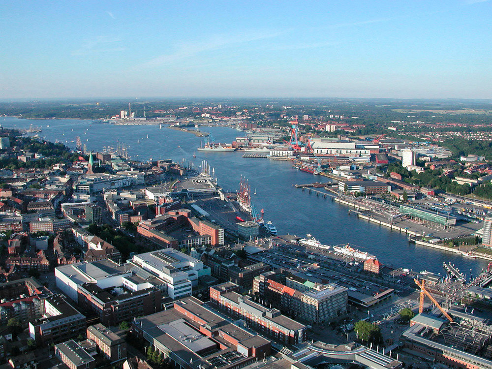 The Kiel harbor in Germany. Credit: Klaas Ole Kürtz via Wikimedia Commons.