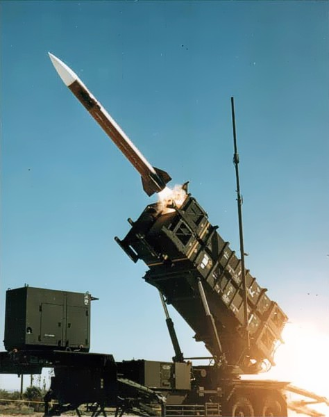 A Patriot missile test (illustrative photo). Credit: Wikimedia Commons.