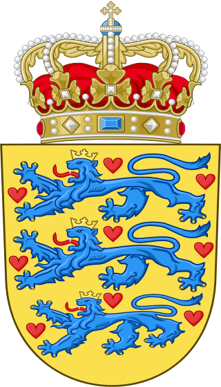 The national coat of arms of Denmark. Credit: Wikimedia Commons.