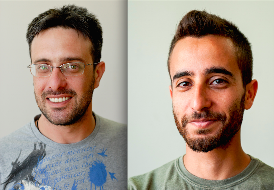 Click photo to download. Caption: Amir Kadouri (left) and Koby Haham, who work as freelancers in industrial design and R&D for the Israeli plastic company Keter. Credit: Provided photos.