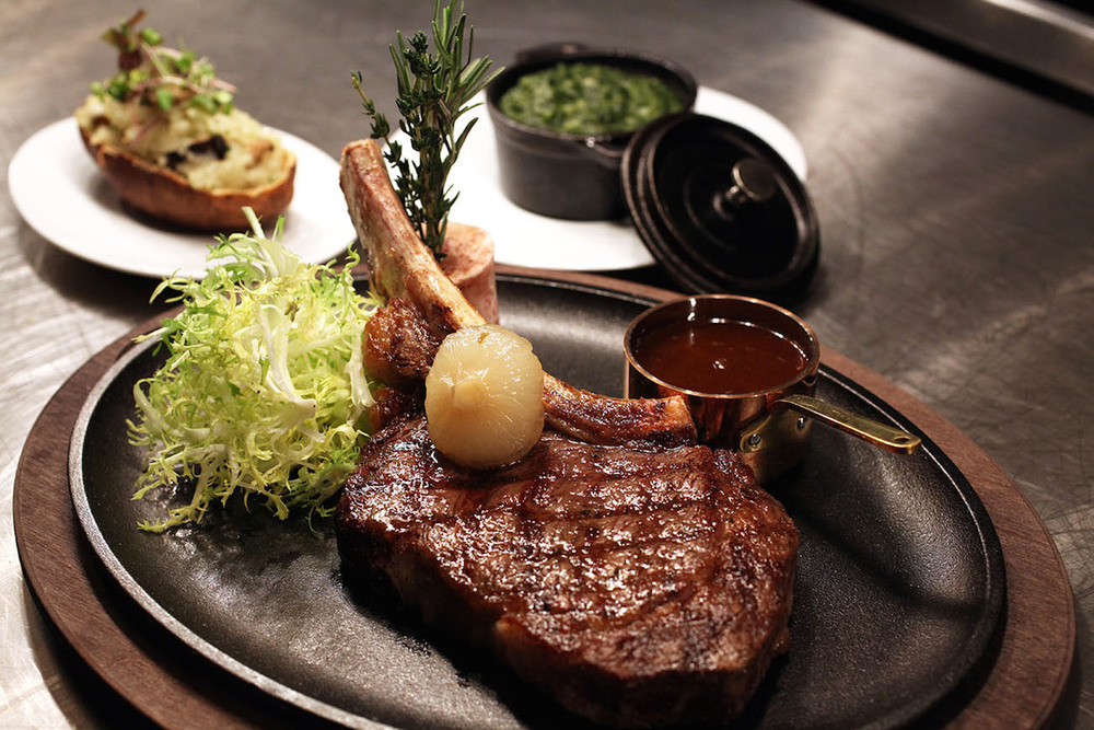 Click photo to download. Caption: A steak at New York City's Reserve Cut. Credit: Doug Schneider Photography/Reserve Cut.