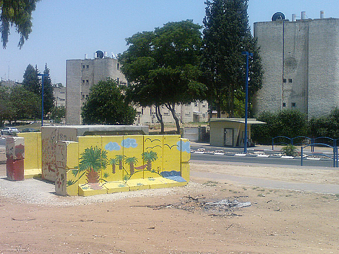 A bomb shelter in Sderot. Credit: Wikimedia Commons.