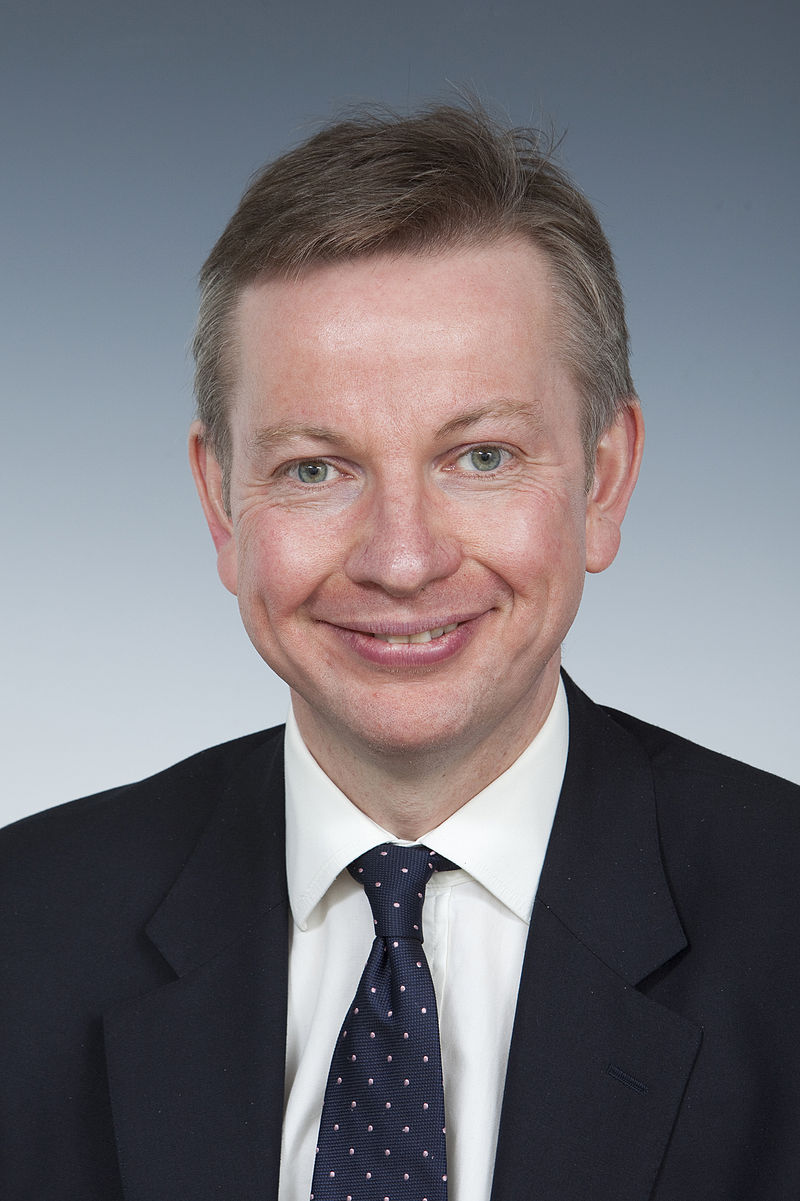 British Justice Secretary Michael Gove. Credit: Wikimedia Commons.