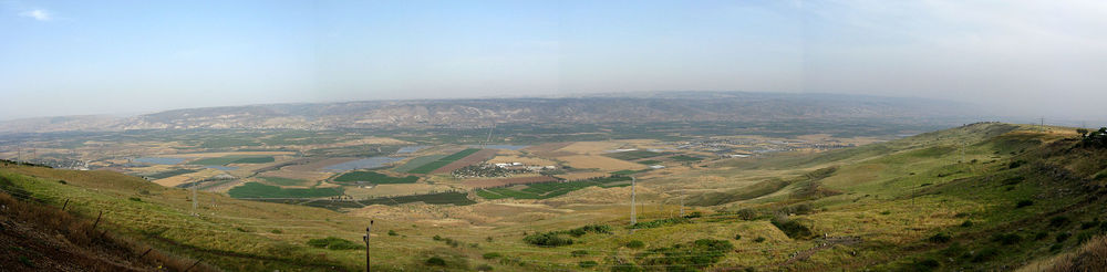 A panorama of the Jordan Valley. Credit: Wikimedia Commons.