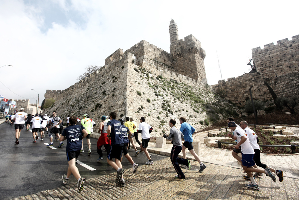 Runners in the 2012 Jerusalem Marathon. Credit: Wikimedia Commons.