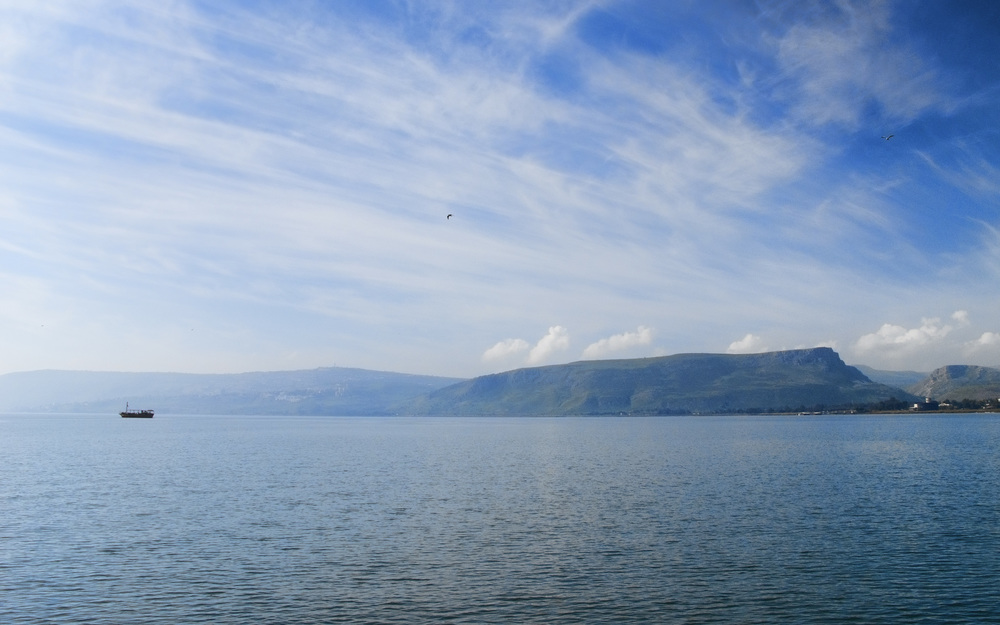 Click photo to download. Caption: The Sea of Galilee. Credit: Dan Lundberg via Wikimedia Commons.