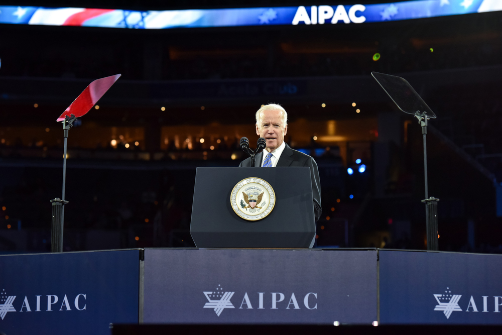 Vice President Joe Biden addresses the 2016 AIPAC conference. Credit: AIPAC.