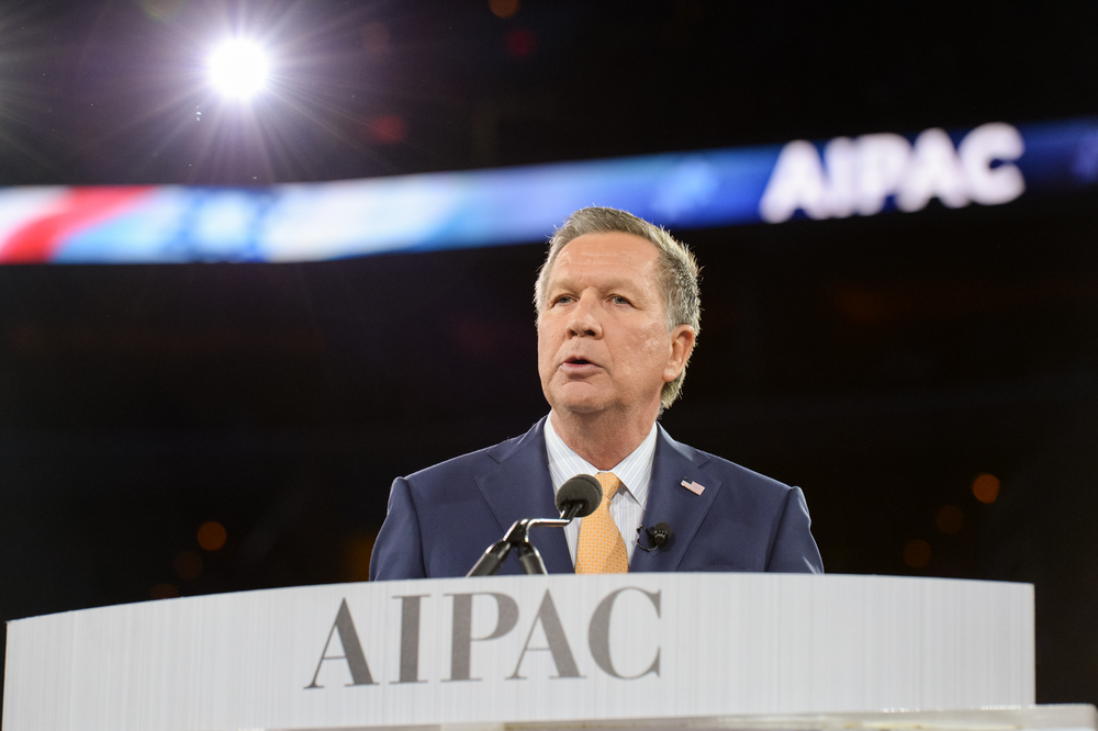 Ohio Governor John Kasich speaks at the 2016 AIPAC conference. Credit: AIPAC.