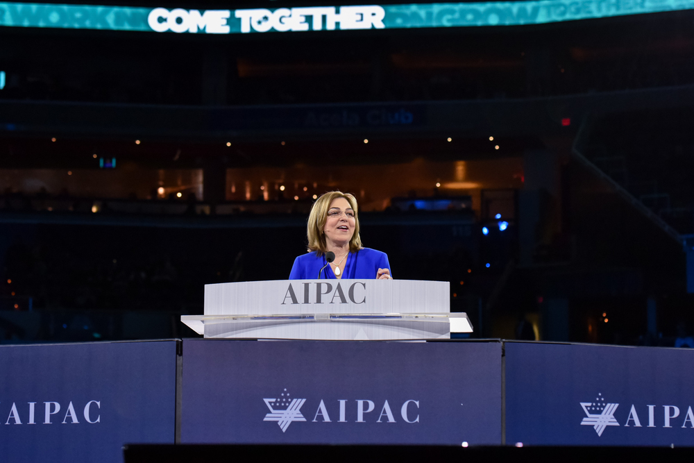 Click photo to download. Caption: Lillian Pinkus (pictured here), the new president of AIPAC, on Tuesday slammed Donald Trump's on-stage rhetoric about President Barack Obama. Credit: AIPAC.