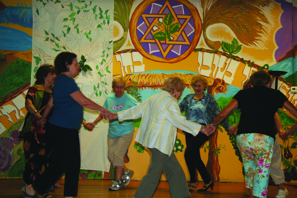 Click photo to download. Caption: Dancing at the Isabella Freedman Jewish Retreat Center's summer camp for seniors. Credit: Isabella Freedman Jewish Retreat Center.