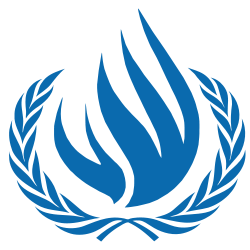The logo of the United Nations Human Rights Council. Credit: Wikimedia Commons.