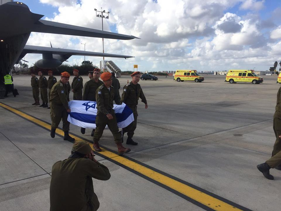 Click photo to download. Caption: Wounded Israelis and the bodies of murdered Israelis arrive in Israel on March 20 after the Israel Defense Forces was allowed to land in Turkey following the March 19 terror attack in Istanbul. Turkey's decision to allow Israel to airlift the victims back home was seen as a significant goodwill step in bilateral relations. Credit: Israeli Ministry of Foreign Affairs via Facebook.