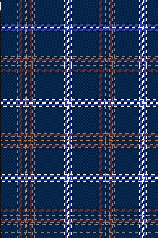 The pattern of the official new kosher Jewish tartan. Credit: Screenshot from jewishtartan.com.