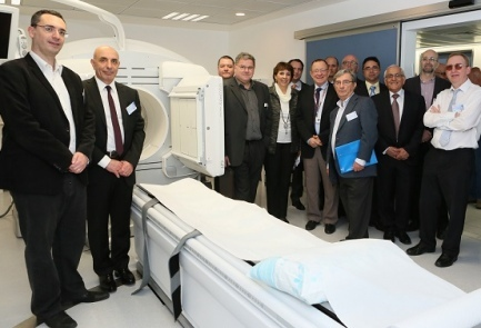 The first-of-its-kind nuclear imaging machine is unveiled at Haifa's Rambam Hospital. Credit: Rambam Hospital.