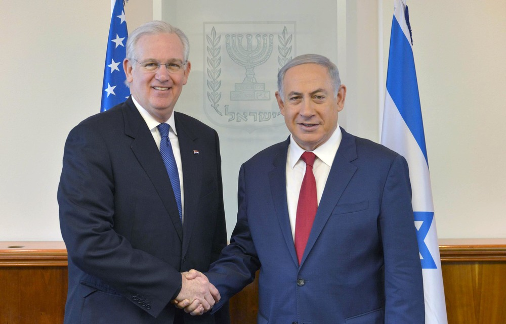 Click photo to download. Caption: Missouri Governor Jay Nixon (left) meets with Israeli Prime Minister Benjamin Netanyahu in Jerusalem in March. Credit: Government Press Office.