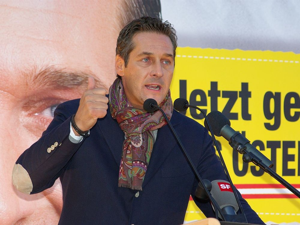The leader of the Austrian far-right Freedom Party, Heinz-Christian Strache. Credit:     Christian Jansky via Wikimedia Commons.