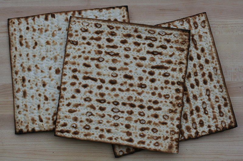 Matzah. Credit: Wikimedia Commons.