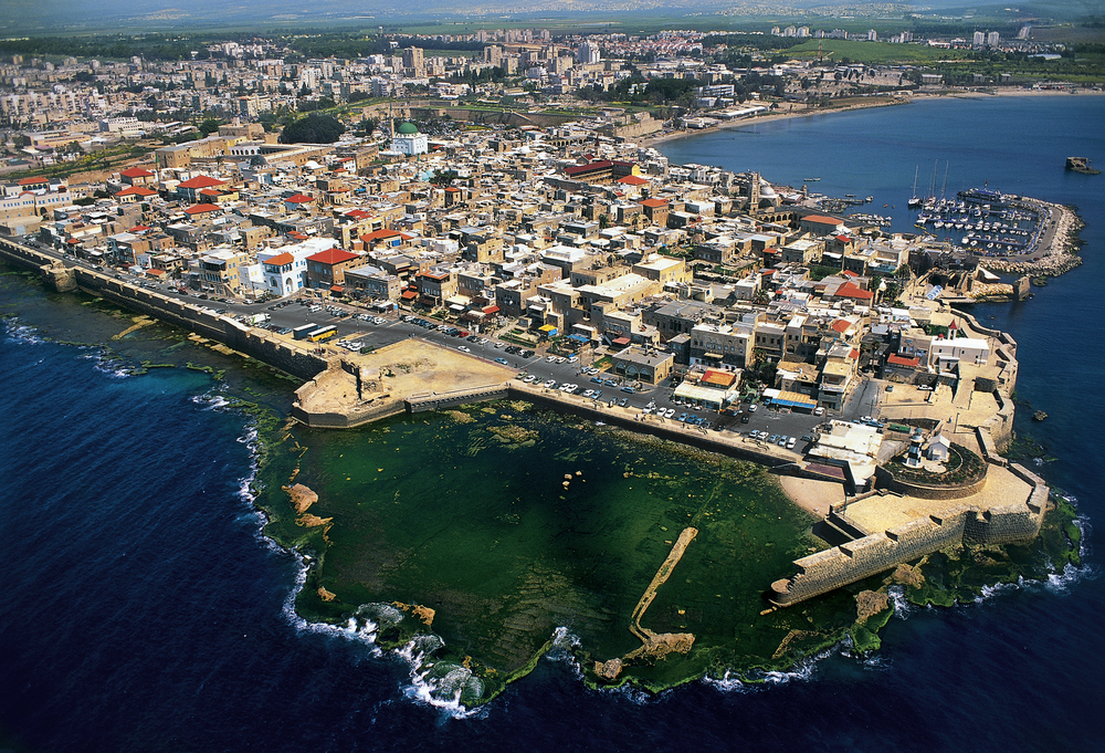 Click photo to download. Caption: An aerial view of Akko, Israel. Credit: Israel Tourism via Wikimedia Commons.