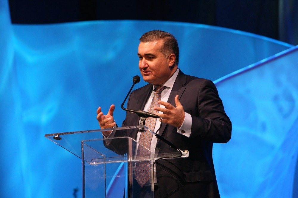 "Click photo to download. Caption: Azerbaijani Ambassador to the U.S. Elin Suleymanov (pictured here) told JNS.org regarding his country's conflict with Armenia in the Nagorno-Karabakh region, ""We don't want this escalation."" Credit: Azerbaijan America Alliance."