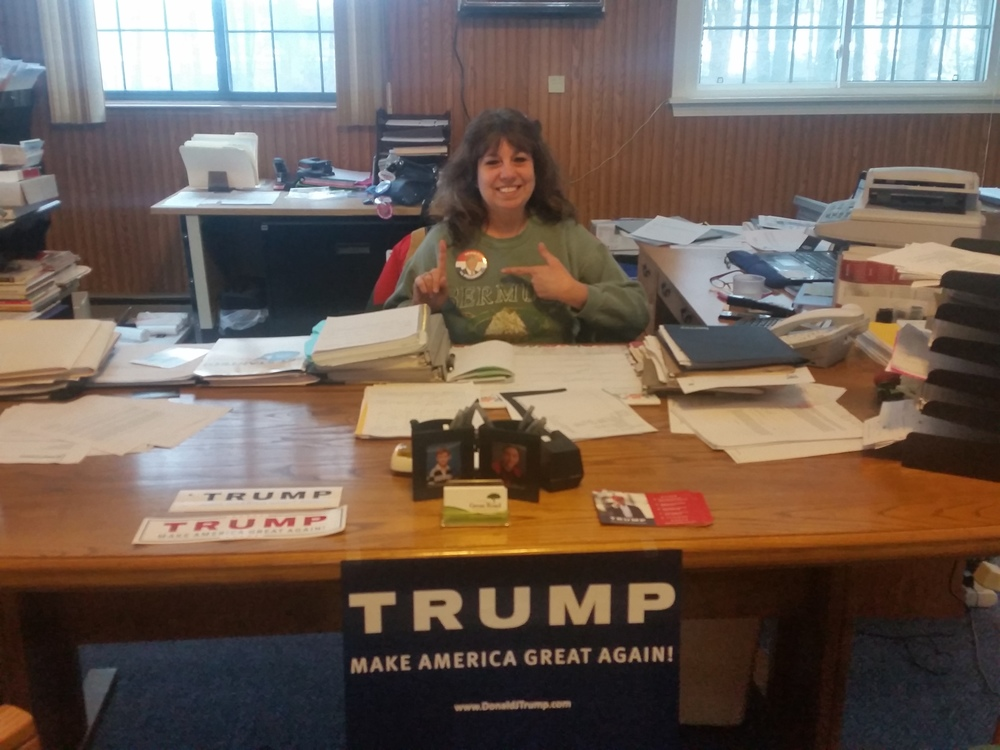 Click photo to download. Caption: Massachusetts resident Debra Livernois, a Jewish supporter of Donald Trump. Credit: Courtesy Debra Livernois.