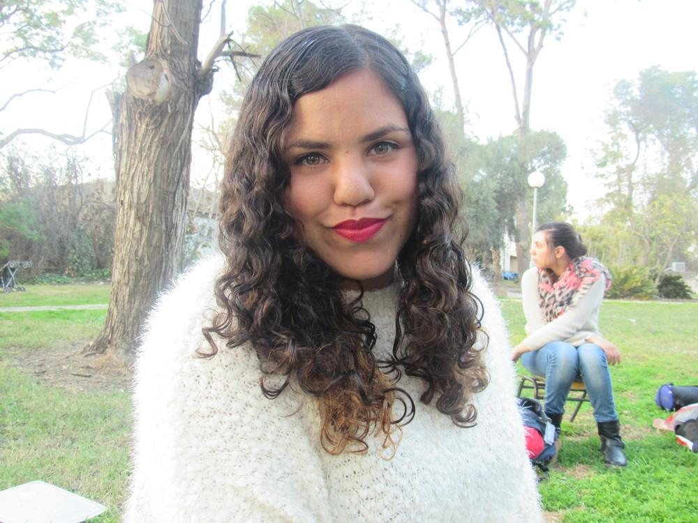 Click photo to download. Caption: Marisol, an alumna of Israel's pre-army ALMA program. Credit: ALMA.