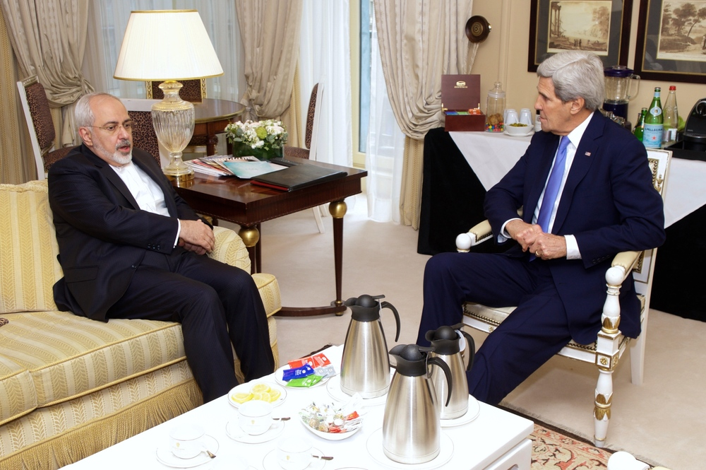 Iranian Foreign Minister Mohammad Javad Zarif meeting with U.S. Secretary of State John Kerry in 2015. Credit: Wikimedia Commons.