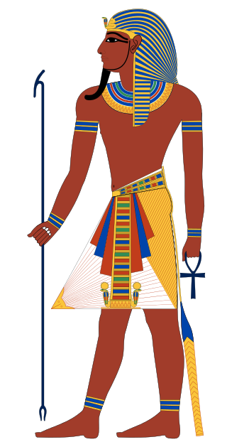 A depiction of an Egyptian Pharaoh. Credit: Wikimedia Commons.