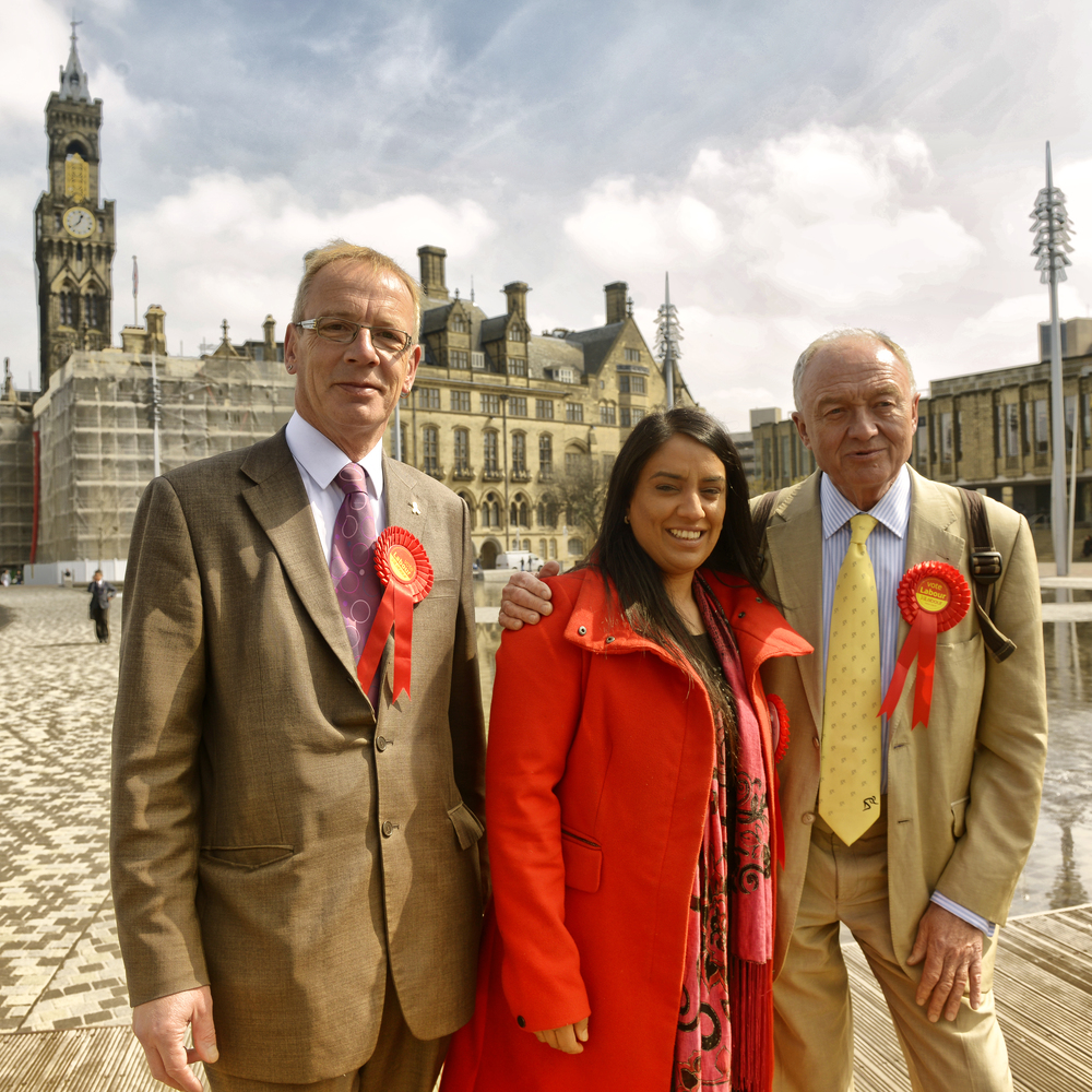 "Click photo to download. Caption: Pictured in the center is Naz Shah, who was suspended from the United Kingdom's Labour Party over a Facebook post in which she suggested the ""relocation"" of Israel. Credit: Wikimedia Commons."