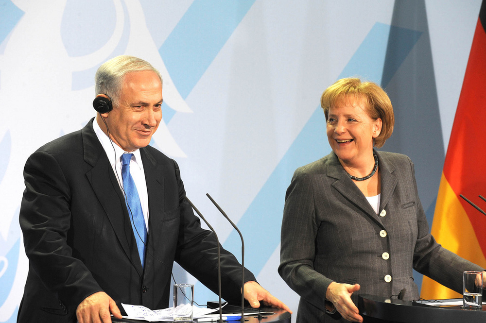 Israeli Prime Minister Benjamin Netanyahu with German Chancellor Angela Merkel. Credit: Israeli Ministry of Foreign Affairs via Flickr.com.