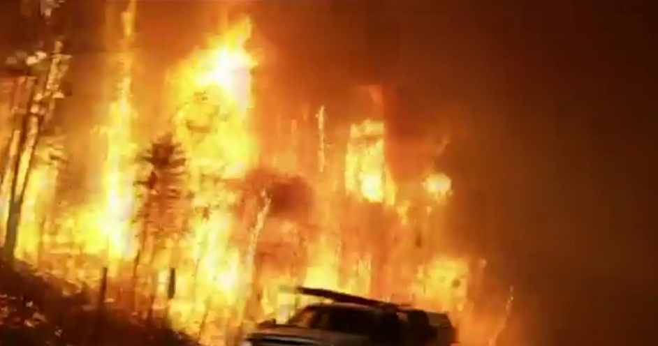 The Fort McMurray fire. Credit: YouTube screenshot.