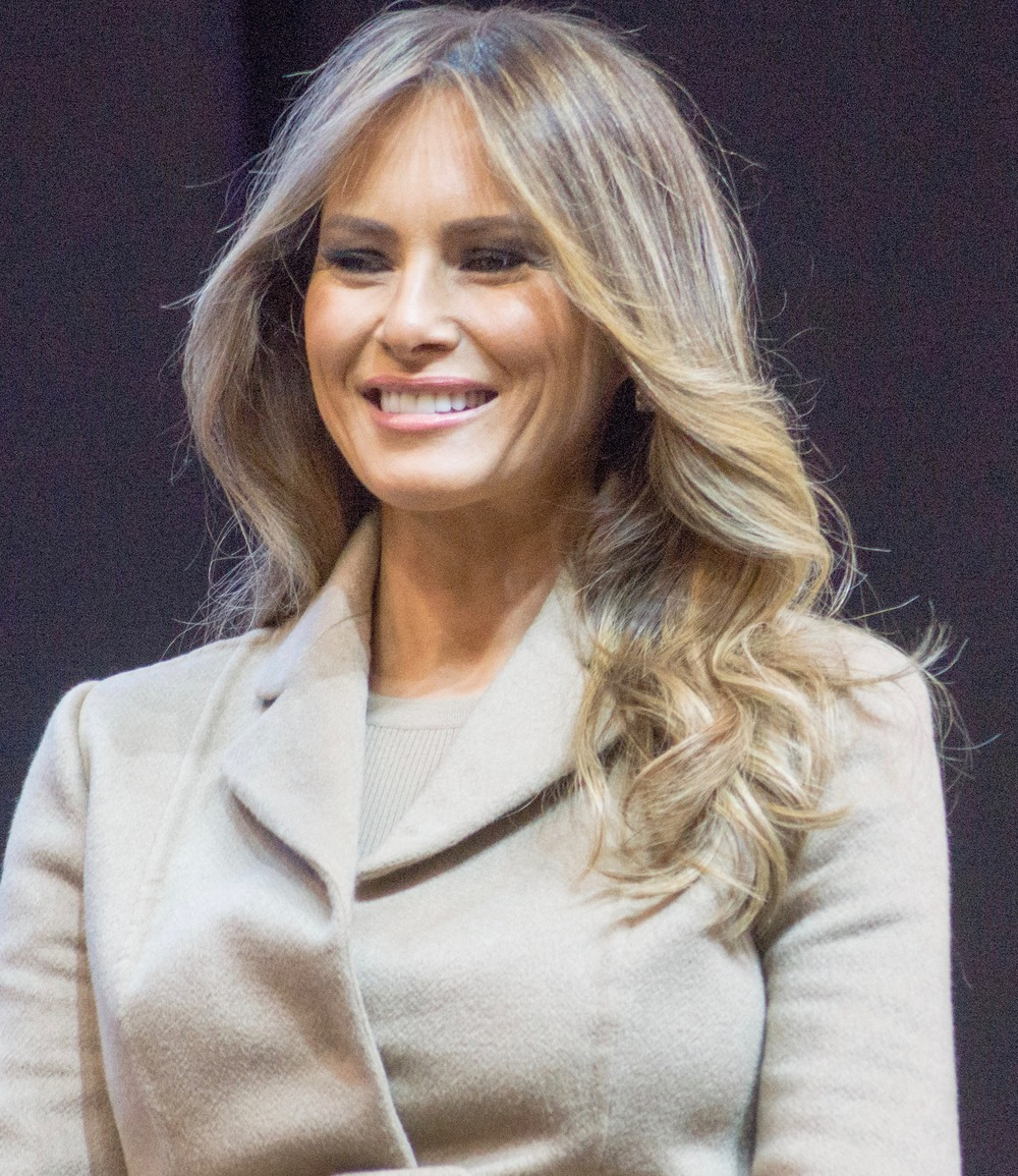 Donald Trump's wife Melania Trump. Credit: Marc Nozell via Wikimedia Commons.